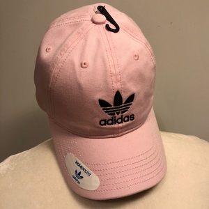 NWT Pink & Black Adidas Logo Hat